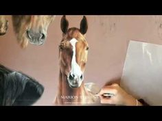 Riff, cheval dessiné au pastel par l'artiste Marion Tubiana - l'Atelier Géant