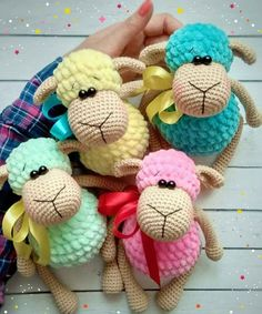 Sheep - Toys Plush - Amigurumi [Free Crochet Pattern] ONLY FREE crocheting patterns for Amigurumi, Toys, Afghans, Baby Blankets, New Stitches and Tutorials and many more! #crochet #lovecrochet #freepattern #amigurumi #amigurumidoll #amigurumiaddict #crochetbaby