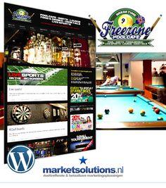 Wil je genieten van live sport op 5 grote schermen in een English Bar? Of speel je liever een partijtje pool of darts onder het genot van een cocktail? Breng dan een bezoekje aan Poolcafe Freezone in Leeuwarden!  http://www.navienbansi.nl/blog/logo-design-en-wordpress-website-voor-poolcafe-leeuwarden/