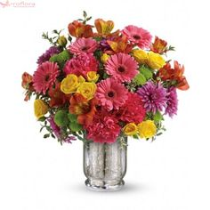 Surprise a loved one with a happy birthday flower delivery from Teleflora. Shop our assortment of bouquets, flowers & balloons for same-day birthday delivery. New Baby Flowers, Summer Flowers, Fresh Flowers, Purple Flowers, White Flowers, Beautiful Flowers, Colorful Flowers, Birthday Flower Delivery, Happy Birthday Flower