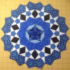 Rosetta number 2 for Passacaglia Quilt, with a few rounds left to go.