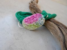 Bracelet with polymer clay and T-shirt cord | Flickr - Photo Sharing!