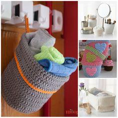 Cachepôs, porta-treco, cestos, são fundamentais para deixar o ambiente organizado. Utilizando a técnica do crochê é possível confeccionar ...