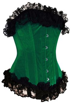 maybe add some colored ruffles since my  corset is black?