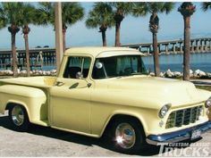 1955 Second Series Chevy/GMC Pickup Truck - Brothers Classic Truck Parts Gmc Pickup Trucks, Vintage Pickup Trucks, Classic Pickup Trucks, Chevy Pickup Trucks, Chevy Pickups, Ford Trucks, Vintage Cars, 1955 Chevrolet, 1955 Chevy