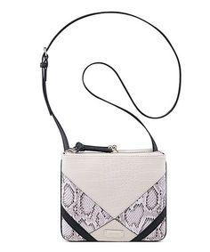Loving this Milk & Snake-Embossed Jaya Crossbody Bag on #zulily! #zulilyfinds