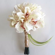 Orchid Wedding Bouquet  Real Touch Realistic by GlamFloral, $145.00