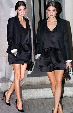 Photographed at the Rochas fashion show at Paris Fashion Week on February Olivia Palermo looked absolutely ravishing in an all-black ensemble. Classic Looks, Classic Style, Style Me, Paris Fashion, Fashion Show, Nice Legs, Red Bottoms, Celeb Style, Olivia Palermo