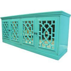 Ooo, this colour on this sideboard is to die for.