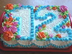 New cake birthday kids number 23 Ideas Pretty Cakes, Cute Cakes, Beautiful Cakes, Birthday Sheet Cakes, Birthday Cake Girls, Birthday Kids, 50th Birthday, Sheet Cake Designs, Number Cakes