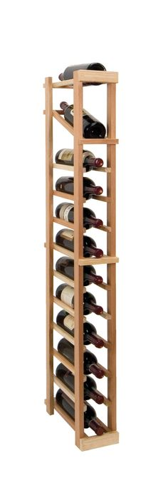 Features: Material: -Wood. Mount Type: -Floor. Wine Bottle Capacity: -12. -Crafted from premium redwood. -Rails have beveled ends and rounded edges to protect wine labels from tearing. -Display