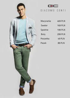 Stylizacja Giacomo Conti: marynarka ANTONIO 15/38 SM, sweter PIETRO 15/20 SR, spodnie FEDERICO 15/12 T, buty 2241