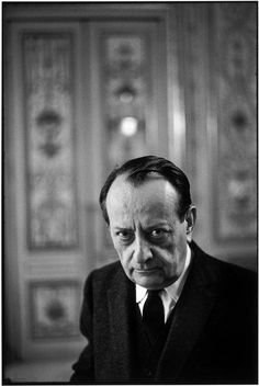 .André MALRAUX, in his office as Cultural Minister. FRANCE. Paris. 1968 - Photo HCB