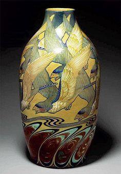 Galileo Chini, Arte della Ceramica, pottery vase - by Porro & C.
