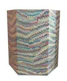 hand painted faux marble wastebasket   at lamshop
