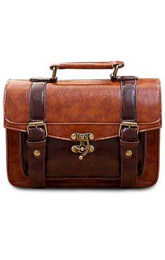 AsianiCandy Mori girl color block satchel/ Handbag/ Detached Strap/ Featured by #CutiepieMarzia