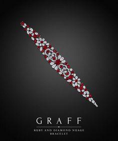 Graff Ruby and Diamond Nuage Bracelet. Diamonds 20.78 cts. and Rubies 31.19 cts.
