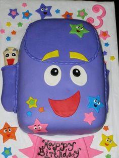 Backpack themed cake