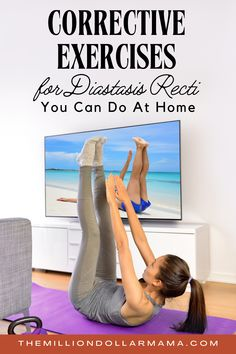 These corrective exercises for diastatis recti can be done from the comfort of home and will help you to heal postpartum abdominal separation. Weight Loss Meals, Healthy Dinner Recipes For Weight Loss, Healthy Recipes, Easy Workouts, At Home Workouts, Core Workouts, Training Workouts, Fitness Workouts, Health And Wellness