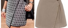 saiaenvelopeassimétrica Asymmetrical Skirt, Sewing, Skirts, Skirt Patterns, Style, 36, Floral, Ideas, Fashion