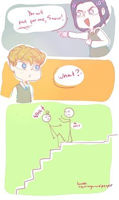 Is there a guy you like? Then puSH HIM DOWN THE STAIRS!