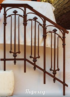 wrought iron railings in art Nouveau style