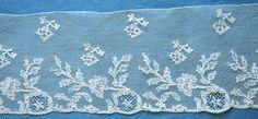 Mechlin c 1800 Needle Lace, Bobbin Lace, Art Textile, Textile Patterns, Textiles, Lacemaking, Linens And Lace, Lace Embroidery, Antique Lace