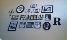 Family picture collage for staircase wall Family Picture Collages, Picture Frames, Picture Wall Staircase, Free To Use Images, Family Pictures, Back Home, Painted Walls, Gallery Walls, Wallpaper