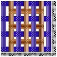 Risultati immagini per deflected double weave patterns
