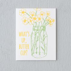 Terrain What's Up Buttercup Card by Wild Ink Press #shopterrain