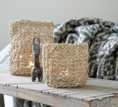 Sisal, Jute, Knit Crochet, Candle Holders, Candles, Knitting, Crafts, Diy, Inspiration