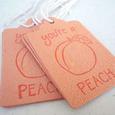 Your place to buy and sell all things handmade Peach Orange Color, Peach Cookies, Youre A Peach, Computer Paper, Just Peachy, Construction Paper, Paper Tags, Scrapbook Paper, Etsy Store