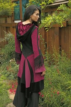 Upcycled Sweater coat - very nice and tasteful and wearable. Some of these can be a bit overboard.