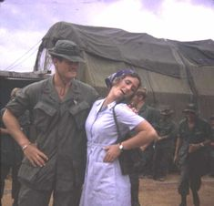 1LT Henry Schutz (3/B/1-6) with Donut Dollie at LZ Dottie, in the fall of 1970. The large maintenance tent behind them was the mess hall at the fire base. Above two photos from Ray Tyndall.