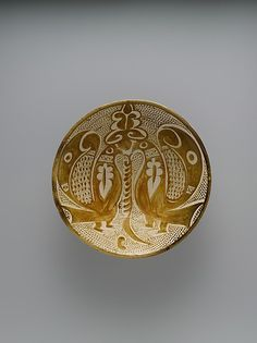 Bowl with Two Facing Peacocks, 10th century, Basra, Iraq