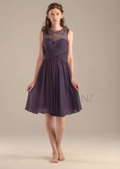 2016 Purple Chiffon Bridesmaid Dress Violet Cocktail by RenzRags  ブライドメイドドレス a8b48fc5e1f3