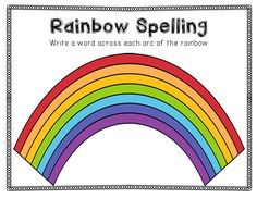Mrs. Winter's Bliss: Spelling Activities {a Freebie} - Rainbow spelling sheet