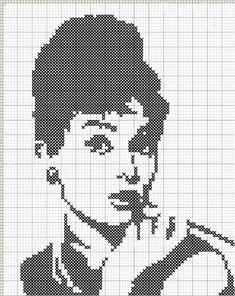 Idag handlar mitt inlägg om två vackra amerikanskor!   Audrey Hepburn i korsstygn, mönster J.N. 2010   Först vill jag visa er det här underb...