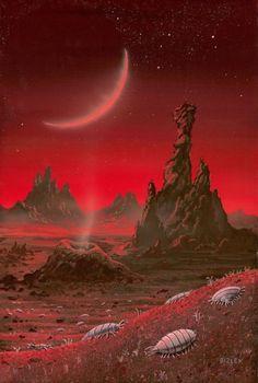 Envisioning a Positive Future Sci Fi Fantasy, Fantasy World, Fantasy Landscape, Landscape Art, Trippy, Carla Tsukinami, Arte Sci Fi, Alien Life Forms, 70s Sci Fi Art