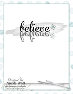 Card front and inside by Nicole Watt for Retro Sketches (RS100) using My Digital Studio. (inside of the Believe card front) Watercolored Winter; Winter Wonders, Be Yourself, Pride Framable @NMWatt #pixelmaven #stampinup #mydigitalstudio