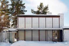 Arne Korsmo & Grete Prytz Kittelsen's mid-century home Sweet Home, Concrete Wood, International Style, Mid Century House, Interior Architecture, Facade, Mid-century Modern, Exterior, Windows