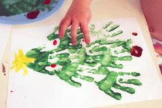 love the idea of each of the clients leaving a handprint to make the giving tree <3 or a card for chop
