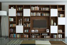 Dans cet article vous allez trouver 40 exemples de salons et salles de séjour contemporains et modernes avec des meubles télé pratiques intégrés. Regardez!