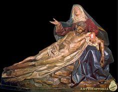 GREGORIO FERNANDEZ. Piedad. 1616. Rococo, Baroque, La Pieta, Personal Prayer, Religious Images, Blessed Mother, Christian Art, Virgin Mary, Ciel