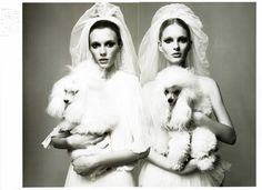 Sigrid Agren & Patricia van der Vilet by Glen Luchford in Just the Two of Us | Vogue Nippon June 2010