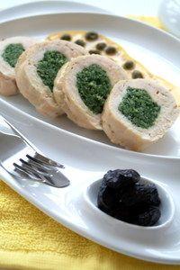 Фото к рецепту: Куриный рулет с зеленым кускусом из коричневого риса  Индика brown