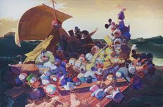 the raft of medusa no.2, 2013 acrylic on canvas, 130 x 197 cm image courtesy klein sun gallery, NY © zhang gong