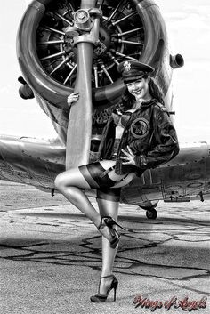 Fly girl pin up