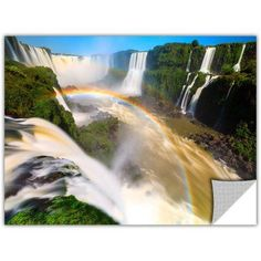 Cody York Iguassu Falls 2 inch Removable Wall Art Graphic, Size: 24 x 36, Blue