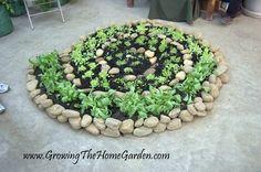 spiral vegetable and herb garden